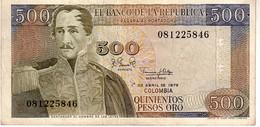 Colombia P.420b 500 Pesos 1979 Xf - Kolumbien