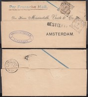 """INDE NEERL 1899 Yv25 SUR LETTRE DE SEMARANG Griffe BESTELLEN """"PER FRANSCHE MAIL"""" (AIX3771) DC-1393 - Indes Néerlandaises"""