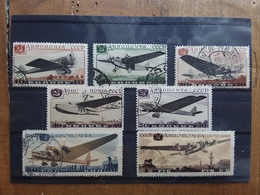 RUSSIA 1937 - Aerei Timbrati Nn. A60/66 + Spese Postali - 1923-1991 USSR