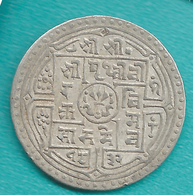 Nepal - Prithvi - 1 Mohur - SE1832 (1910) - KM651.2 - Milled Edge - Népal