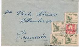España. Carta De Loja A Granada Con Sello Local De Loja - 1931-Hoy: 2ª República - ... Juan Carlos I