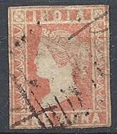 India, 1854 Queen Victoria 1a Dull Red # S.G. 14 - Michel 5 - Scott 4  USED - 1854 Compañia Británica De Las Indias