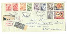 Lettre Express Par Avion Beograd To Germany Via München To Gaildorf - Lettres & Documents