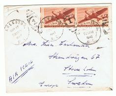 Militaire Zending Naar Charleston Via Air Mail In 1947 Voorzien Van Censuurstempel - 1845-47 Emissioni Provinciali