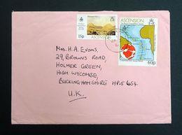 Ascension Islands 1980 Yt.270/SG275 & Yt.271/SG276 To High Wycombe, UK Cover. - Ascension (Ile De L')