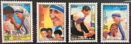 Sénégal 1999 Mère Térésa Mother Teresa Mutter Theresa Nobelpreis Prix Nobel Price Peace 4 Val. RARE MNH - Senegal (1960-...)