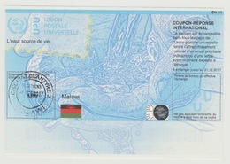 Malawi UPU Union Postale Universelle L'eau Source De Vie Water Wasser COUPON-REPONSE INTERNATIONAL IRC IAS CRI - Malawi (1964-...)
