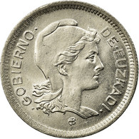 Monnaie, SPAIN CIVIL WAR, EUZKADI, Peseta, 1937, Bruxelles, SPL, Nickel, KM:1 - Republican Location