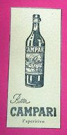 CAMPARI 1959 PUBBLICITA' VINTAGE - Pubblicitari