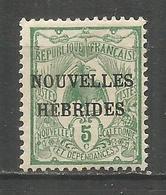 NUEVA HEBRIDES YVERT NUM. 1 ** NUEVO CON FIJASELLOS - Leyenda Francesa