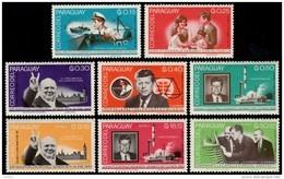~~~ Paraguay 1965  - Kennedy Churchill Espace -  Mi. 1455/1462  ** MNH - Cote 13.00 Euro  ~~~ - Paraguay