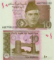 PAKISTAN        10 Rupees        P-45L         2017        UNC  [sign. Ashraf M. Wathra] - Pakistán