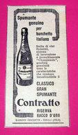 CONTRATTO SPUMANTE 1959 PUBBLICITA' VINTAGE - Pubblicitari