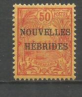 NUEVA HEBRIDES YVERT NUM. 4 * NUEVO CON FIJASELLOS - Leyenda Francesa