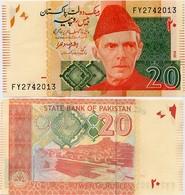 PAKISTAN       20 Rupees        P-55h        2014        UNC  [sign. Ashraf M. Wathra] - Pakistan