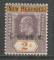 NUEVA HEBRIDES YVERT NUM. 7 * NUEVO CON FIJASELLOS - Leyenda Inglesa