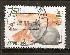 Antilles Neerlandaise Netherlands Antilles 1999 Lapin Chinese New Year Rabbit Obl - Curaçao, Nederlandse Antillen, Aruba