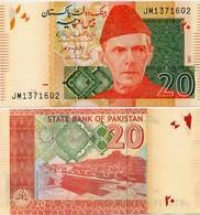 PAKISTAN       20 Rupees        P-55[k]       2017        UNC  [sign. Ashraf M. Wathra] - Pakistán