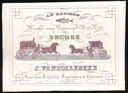 BRUGGE  PORSELEINKAART 14X10 CM  AU SAUMON MARCHE AUX POISSONS - J.VANHOLLEBEKE - Brugge