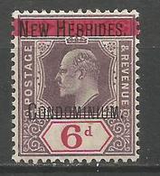 NUEVA HEBRIDES YVERT NUM. 10 ** NUEVO SIN FIJASELLOS - English Legend