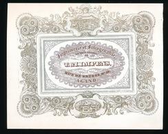 GENT  PORSELEINKAART 14X11 CM IMPRIMERIE ET LITHOGRAPHIE T&I.IMPENS - RUE DE BRUGES 35 A GAND - Gent