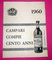 CAMPARI COMPIE CENTO ANNI 1960 PUBBLICITA' VINTAGE - Pubblicitari