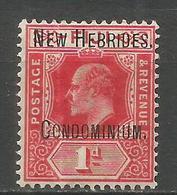 NUEVA HEBRIDES YVERT NUM. 13 * NUEVO CON FIJASELLOS - Leyenda Inglesa