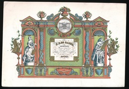 GENT  PORSELEINKAART 22X15 CM J.F.DE RACHE ARCHITECTE MACON ET PLAFONNEUR - MAISON DE FORCE  GAND - Gent