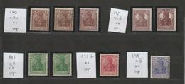 Deutsches Reich MNr. Lot Aus MNr. 140 - 149  Postfrische **/MNH , Geprüfte Werte - Neufs