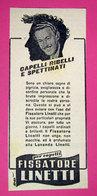 FISSATORE LINETTI 1960 PUBBLICITA' VINTAGE - Pubblicitari