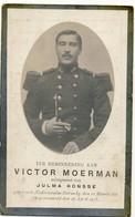 Doodsprentje Victor Moerman - Gesneuveld 1915 - Geboren Nederzwalm-Hermelg 1889 - Images Religieuses