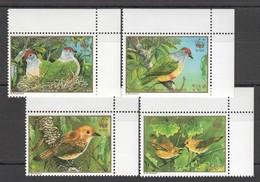 C588 1989 COOK ISLANDS WWF FAUNA BIRDS GOLD 1SET !!! MICHEL 15 EURO !!! MNH - W.W.F.
