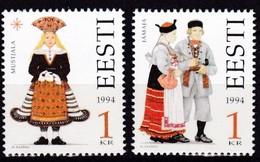 1994, EESTI, 235/36, Trachten Der Regionen. MNH ** - Estland