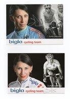 CYCLISME TOUR  DE  FRANCE  Autographe 2 CARTES ZULFIA ZABIROVA - Ciclismo