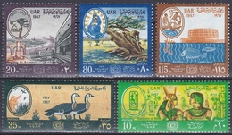 Ägypten Egypt 1967 Wirtschaft Economy Tourismus Tourism Antike Nubien Ramses Nefertare Nilgänse El Alamein, Mi. 855-9 ** - Ungebraucht
