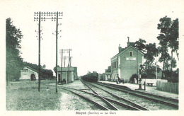 Mayet (72 - Sarthe)  La Gare  - Arrivée Du Train - Mayet