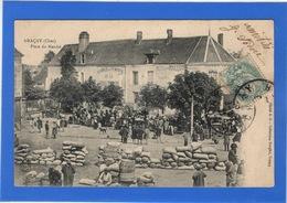 18 CHER - GRACAY Place Du Marché - Graçay