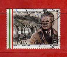 Italia- °-2018 - VITTORIO POZZO.  Usato.   Vedi Descrizione - 6. 1946-.. Repubblica