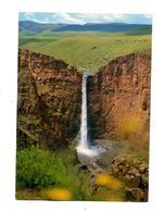 Carte Chute Malutsanyane Cachet Annulation Sur Diamant Cheval Banque - Lesotho