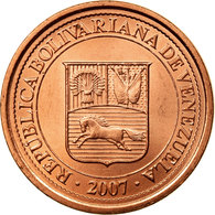 Monnaie, Venezuela, 5 Centimos, 2007, Maracay, SUP, Copper Plated Steel, KM:88 - Venezuela