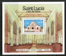 ST.LUCIA  Scott # 871** VF MINT NH SOUVENIR SHEET  LG-988 - St.Lucia (1979-...)