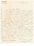 Zeer Mooi Document  Van André De Mot, Le Harnoy, Evremailles-Bauché Pres Yvoir - Non Classés