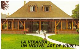 Vers 1980 - CPSM - Athée-sur-Cher (Indre-et-Loire) - Pub Véranda G.R.I à La Taille Du Perron - FRANCO DE PORT - France