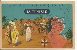 CHROMO FICHE ILLUSTREE / LA TUNISIE - SERIE LION NOIR - Géographie
