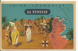 CHROMO FICHE ILLUSTREE / LA TUNISIE - SERIE LION NOIR - Geografia