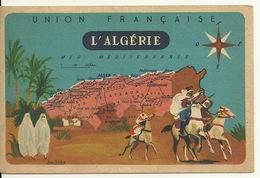 CHROMO FICHE ILLUSTREE / L'ALGERIE - SERIE LION NOIR - Géographie