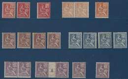 France Mouchon Lot Neufs 112 à 118 & 124 à 128 Belle Qualité **/*  Cote :+ 3972 € - 1900-02 Mouchon