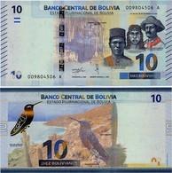 BOLIVIA       10 Bolivianos       P-New       L. 1986 (2018)       UNC  [Series A - Oberthur] - Bolivia