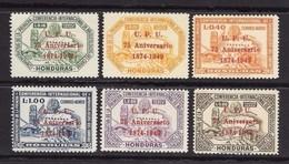 HONDURAS 1951 - UPU - 75° Anniversario U.P.U. 1949 - Correo Aereo N. 181 / 186 ** / * - Cat. 89,00  € - L 1750 (2 F - Honduras
