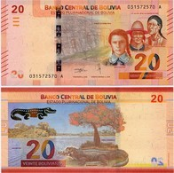 BOLIVIA       20 Bolivianos       P-New       L. 1986 (2018)       UNC  [Series A - Oberthur] - Bolivia